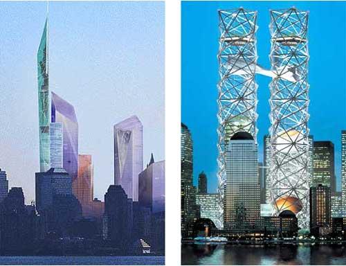 【图文】纽约世贸中心重建方案进入最终角逐